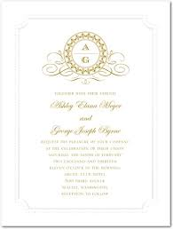 Monogram Wedding Invitations Wedding Invitation Wording No Partners Yaseen For