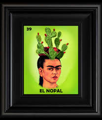 frida kahlo day of the dead la loteria el corazon card digital oil
