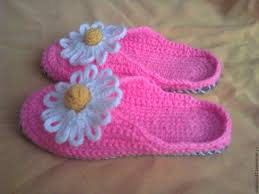 buy knitted bedroom slippers flip flops chamomile on livemaster