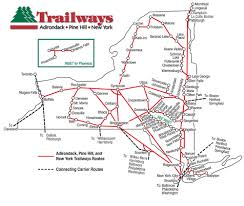 Maps Of New York State by Route Map Trailways Of New York