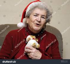 funny old senior woman christmas party stock photo 65766088