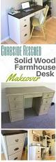 contact paper desk makeover curbside rescued solid wood farmhouse desk makeover