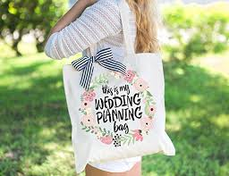 Amazon Com Wedding Planning Tote Bag Gift For Bride To Be Bridal