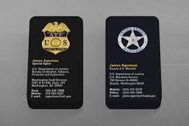 federal enforcement business cards kraken design