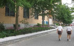 Large Tree Planters by North Esplanade Battery Park City New York Ny Siteworks