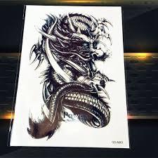 1pc sale large 3d dragon waterproof body arm sleeve tattoo