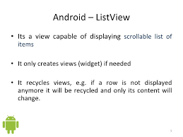 lecture slides for list views android