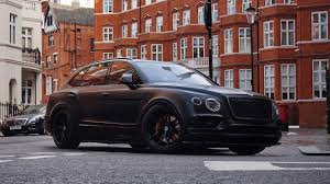 bentley suv matte black slammed arab bentley bentayga bagged on hre performance wheels