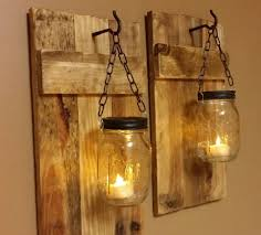 mason jar home decor ideas outdoor wall lighting ideas with diy hanging mason jar candle