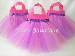 tulle bags set of 10 pink and purple mixed tulle tutu party favor tutu bags
