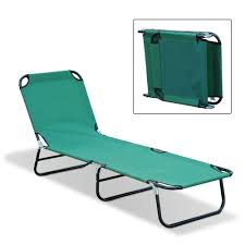Lightweight Folding Chaise Lounge Outdoor Sun Chaise Lounge Recliner Patio Camping Cot Bed Beach