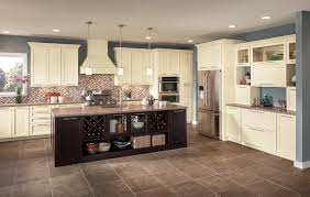 Black Cabinets In Kitchen Shenandoah Cabinetry Island In Breckenridge Maple Espresso