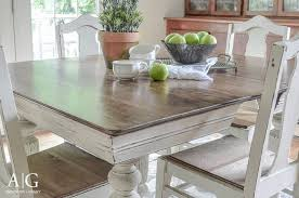 chalk paint farmhouse table dining room dining table makeover for room 15 stunning diy makeovers