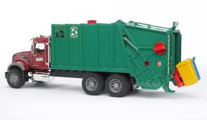 bruder toys bruder mack granite garbage truck toy at growing tree toys