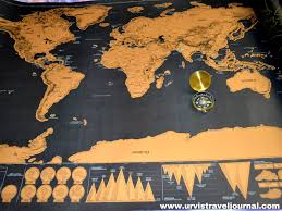 Scratch Off World Map Best 10 Gift Ideas For Travel Lovers Urvis Travel Journal