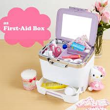 Vanity Box Hello Kitty Cosmetic Makeup Box Vanity Case Heart Made In Japan