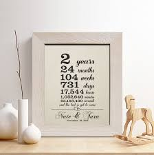anniversary gifts for him 2 years buy personalized 2nd cotton anniversary gift for him or wedding