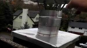 chimney rain cap installation on liner best method flue guru