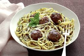 pasta with meatballs and herb sauce recipe nyt cooking