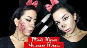 maquillaje de minnie mouse para halloween como hacer heridas
