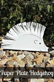 diy hedgehog paper plate craft for kids crafty morning