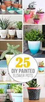 Painting Garden Pots Ideas 25 Diy Painted Flower Pot Ideas You Ll