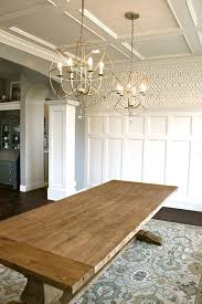 Hanging Dining Room Lights by Farm Table Lighting Judges Panelling Wallpaper And Flat Back
