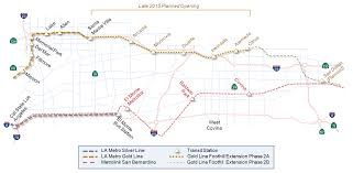 La Metro Rail Map by Transportation Systems Under Consideration Connected Corridors