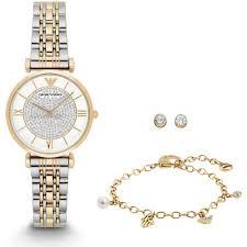 armani bracelet ladies images Emporio armani ladies watch bracelet and earring gift set jpg