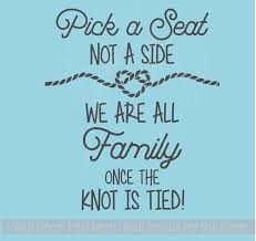 wedding celebration quotes a seat not a side knot is vinyl lettering decals wall