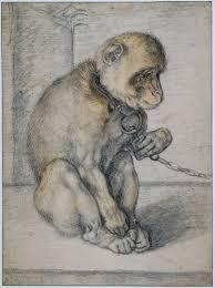 drawings by hendrick goltzius monkey on chain c 1597 hendrick