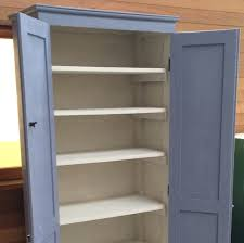 large cupboard with shelves shabby chic industrial style