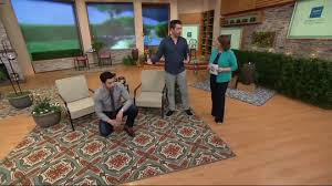Qvc Outdoor Rugs Scott Living 7x10 Medallion Design Indoor Outdoor Rug Page 1