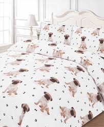 pug all over print dog bedding twin full queen king duvet cover