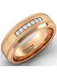 Tungsten Carbide Mens Wedding Rings by Tungsten Rose Gold Wedding Bands For Men American Tungsten Carbide