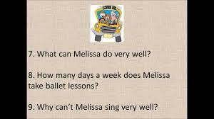 english listening exercise beginner bill u0026 melissa by damien
