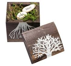 wishing box wedding growing together wishing beans in a tree wood box hansonellis