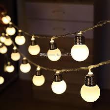 10 led retro bulb balls string lights warm white wedding