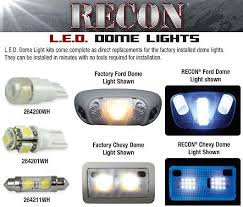 part 264166 ford mustang dome light led replacement kit fits