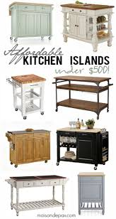 Kitchen Islands On Casters Best 25 Mobile Kitchen Island Ideas On Pinterest Kitchen Island