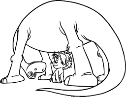 the good dinosaur disney arlo spot boy cartoon coloring pages