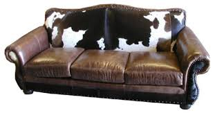 western leather sofa rustic cowhide sofas cowhide couches better than free shipping