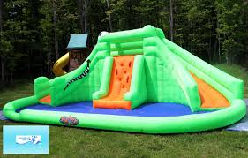 review blast zone crocodile isle inflatable water park with dual
