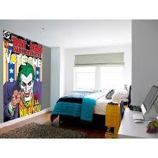 wall easy hang wallpaper mural joker batman comic 1 58m x 2 32m 1 wall easy hang wallpaper mural joker batman comic 1 58m x 2 32m