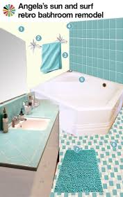 Surf Bathroom Decor 3 Ideas For Angela U0027s Aqua Bathroom Design Retro Renovation