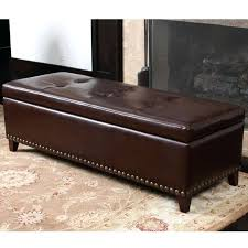 Leather Ottoman Bench Brown Leather Ottoman Storage Bench Large Ottoman Storage Bench