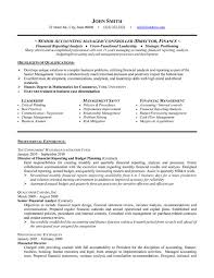 Resume For Financial Analyst Accounting Resume Template Sr Accounting Manager Executive Top