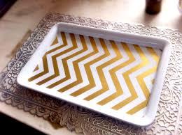 diy gold chevron desk tray kate spade office lovely scrolling
