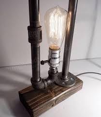 Edison Bulb Table Lamp Creative Vintage Antique Loft Edison Bulb Water Pipe Table Lights