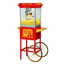 popcorn machine light bulb funtime carnival style 8 oz popcorn machine cart ft860cr the